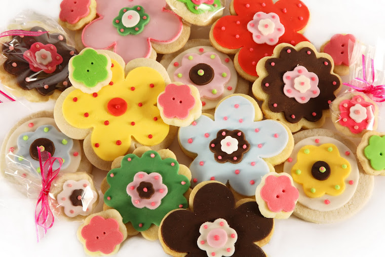 Biscuit Flower arrangement