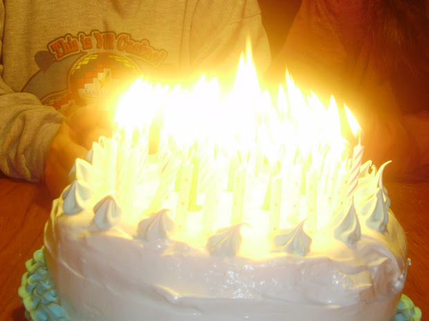 Birthday Cake Candles On Fire