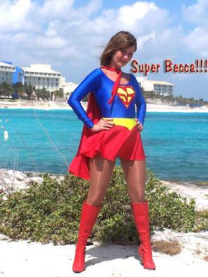 sexy superheroine Super-Becca