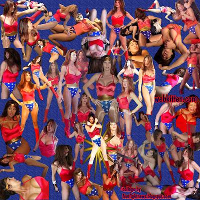 GLOW superstar Hollywood as Wonder Womyn at webkitten.com