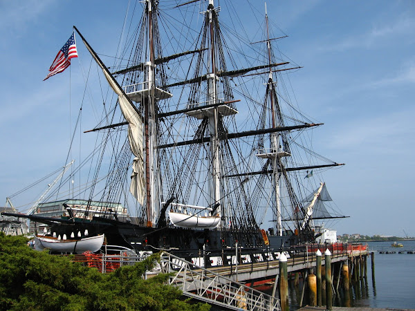 USS Constitution--Stern Quarter View