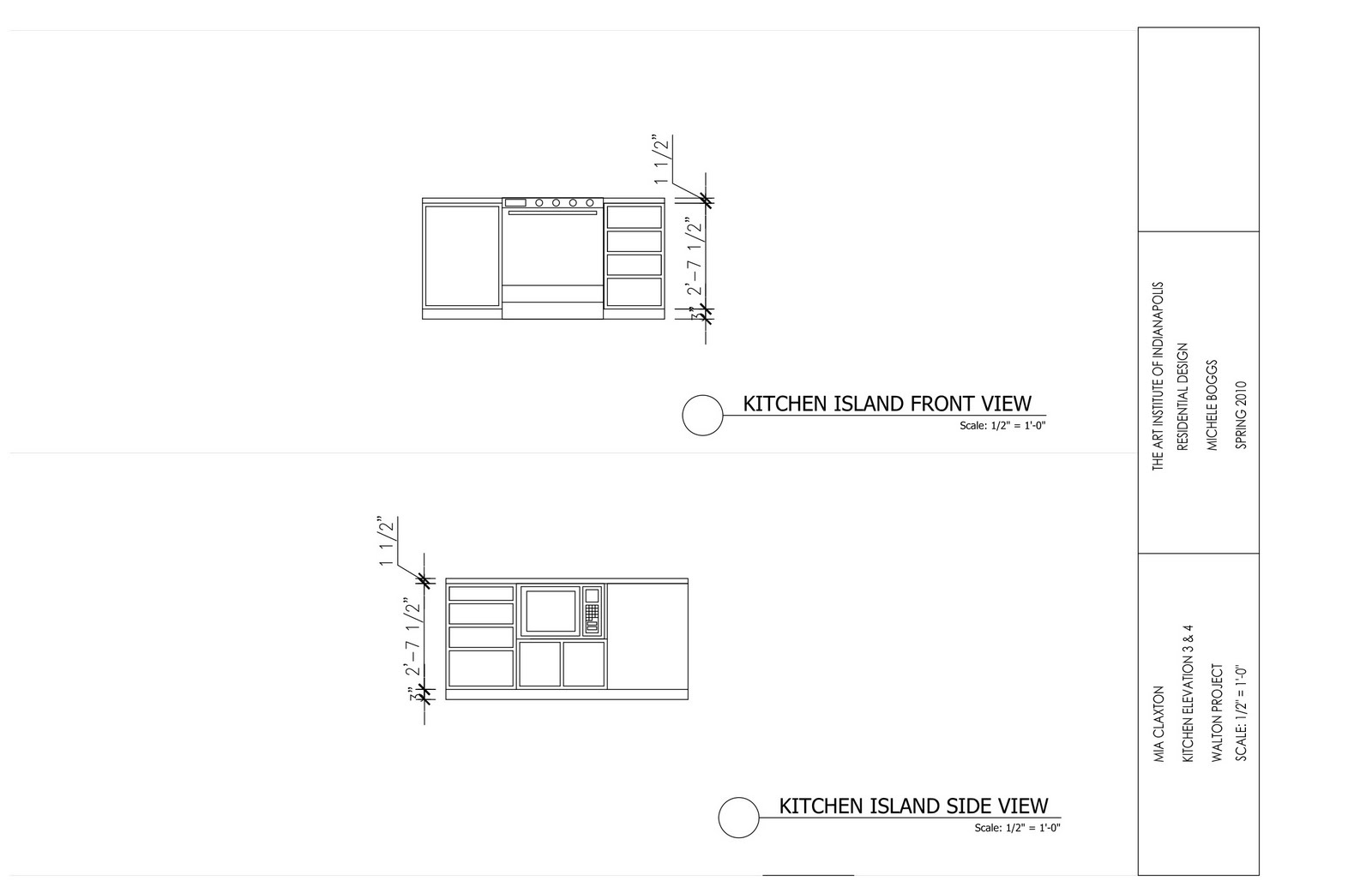 Kitchen Island Elevation walton project | aim to design