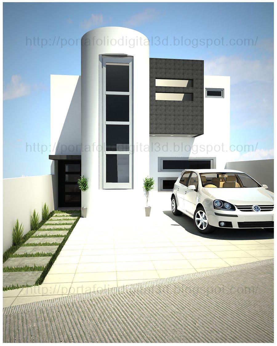 Proyectos arquitectonicos y dise o 3 d casa habitacion for Estilo de casa minimalista