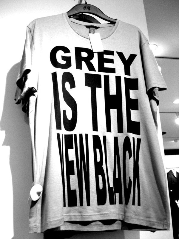 Beautiful GREY IS THE NEW BLACK!!! Nice Look