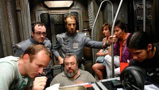 Escena durante el rodaje de Plutón BRB Nero