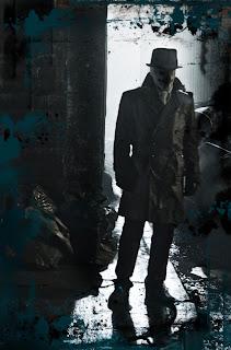 Fotograma de Rorschach en un oscuro callejón de Nueva York