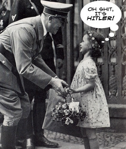 Hitler Funny Cartoons. Curious Combination Captioned