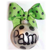 Personalized Preppy Ornaments from theblingtree.com