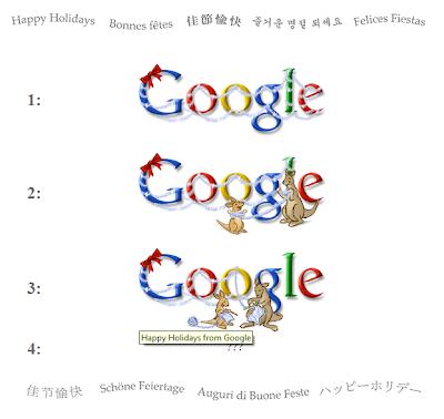 Vánoční loga Google