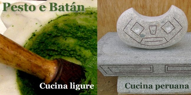 Pesto e Batàn, Cucina ligure e Cucina peruviana