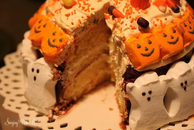 Halloween Chocolate Cream Cake