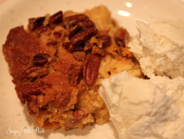 Pumpkin Crunch with ice cream