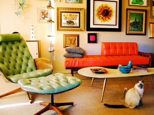 Retro Living Room Furniture Modern House