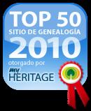 La pagina principal de la ADGH fue elegida entre las 50 mejores paginas de la web en genealogia