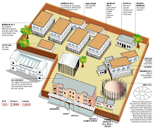 Plan of the prison where is incarcerated Gaëtan
