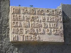 Donde mis sueños echen raíces y la libertad sea un muro de luz y aire puro. Esa sí será mi tierra.