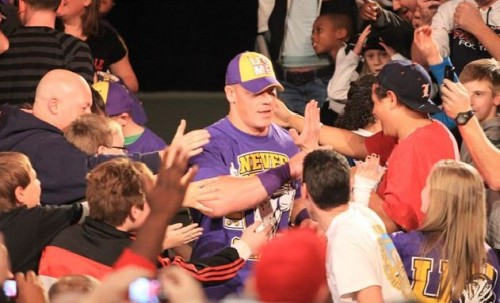 WCC: RING THE BELL! John-Cena-Cheering-His-Fans-500x303