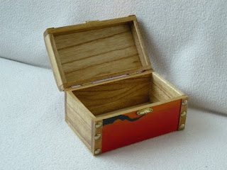 pudełko decoupage - słowika śpiew