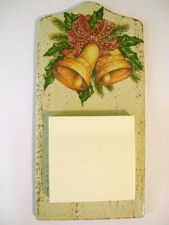 deseczka decoupage - świąteczne zapiski