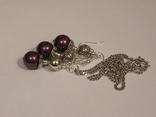biżuteria z półfabrykatów - perły majorka (komplet)
