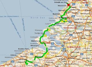 Маршрут вдоль моря из Бельгии в Голландию