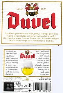 Популярное бельгийское пиво Duuel