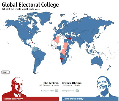 Economist szavazás - kit akar a világ Economist olvasója