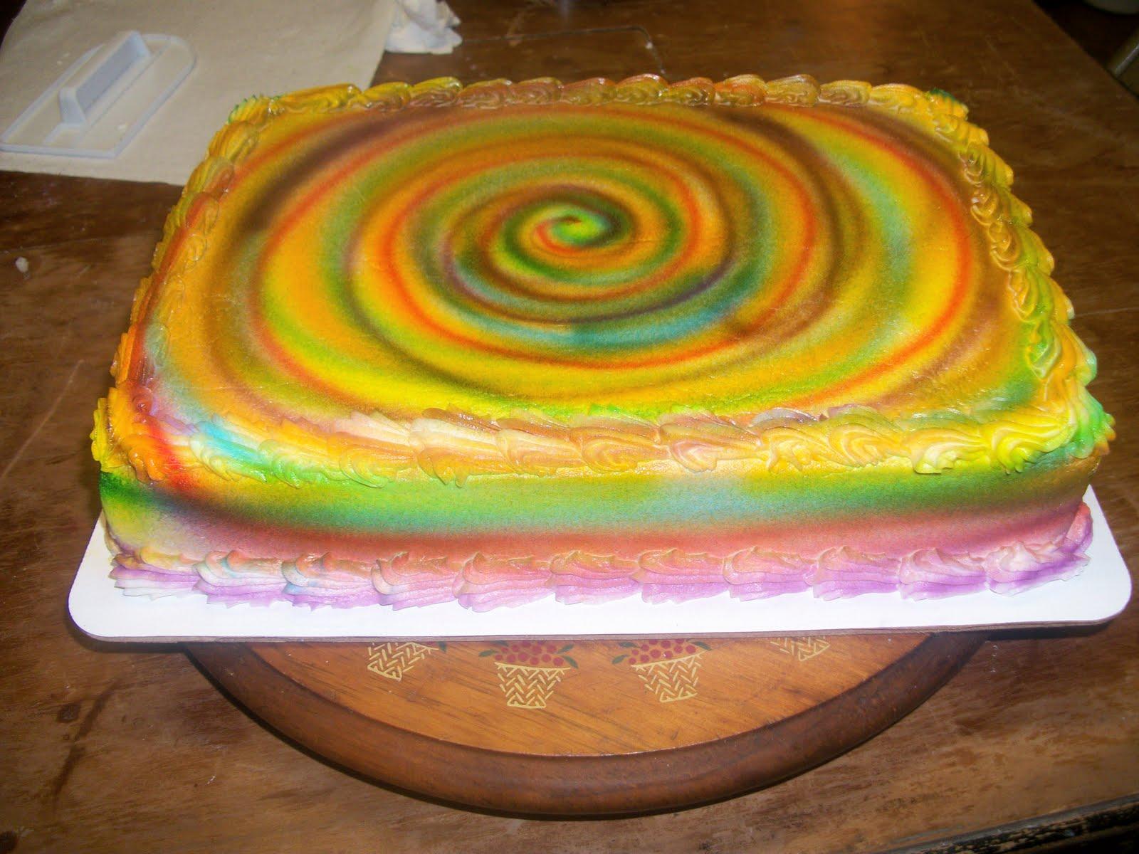 Tasty Cakes: 70s Tie Dye Cake