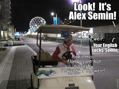 Alex Semin, not Johnny Weir