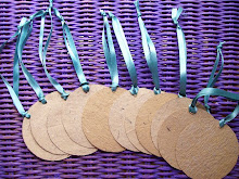 Desert Dunes Recycled Set of Luxury Tags with turquoise ribbon