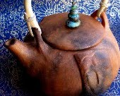 Laughing Buddha Belly Teapot of Mica Clay