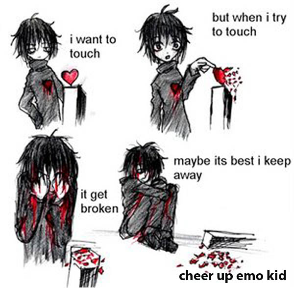 cute emo love pics. Emo Love Quotes Part Three Secondhand Serenade Broken cute