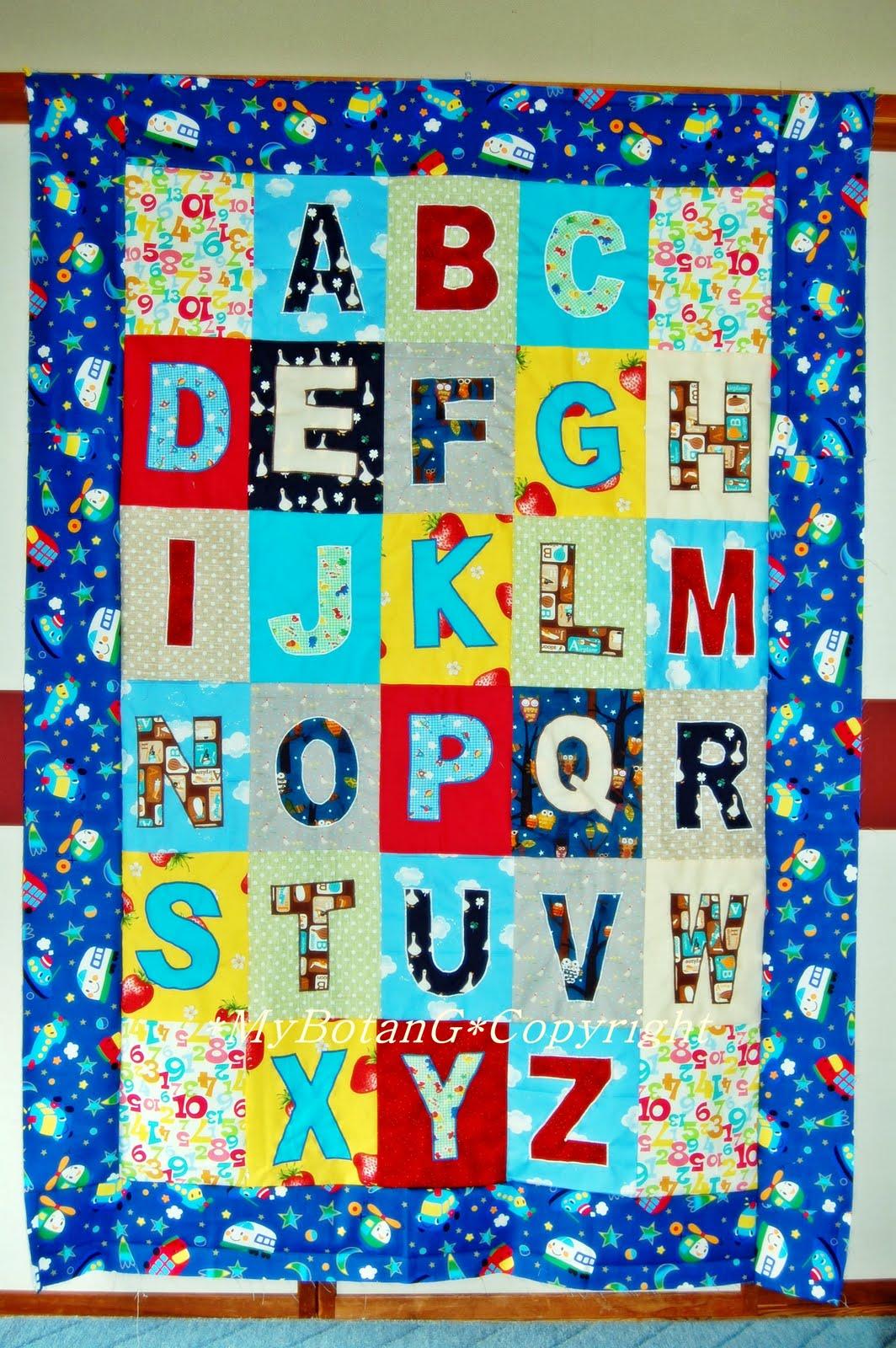 Alphabet Templates For Quilting : MyBotang : Alphabet Quilt