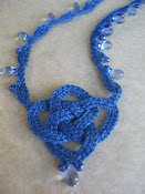 Blue Square Knot Necklace
