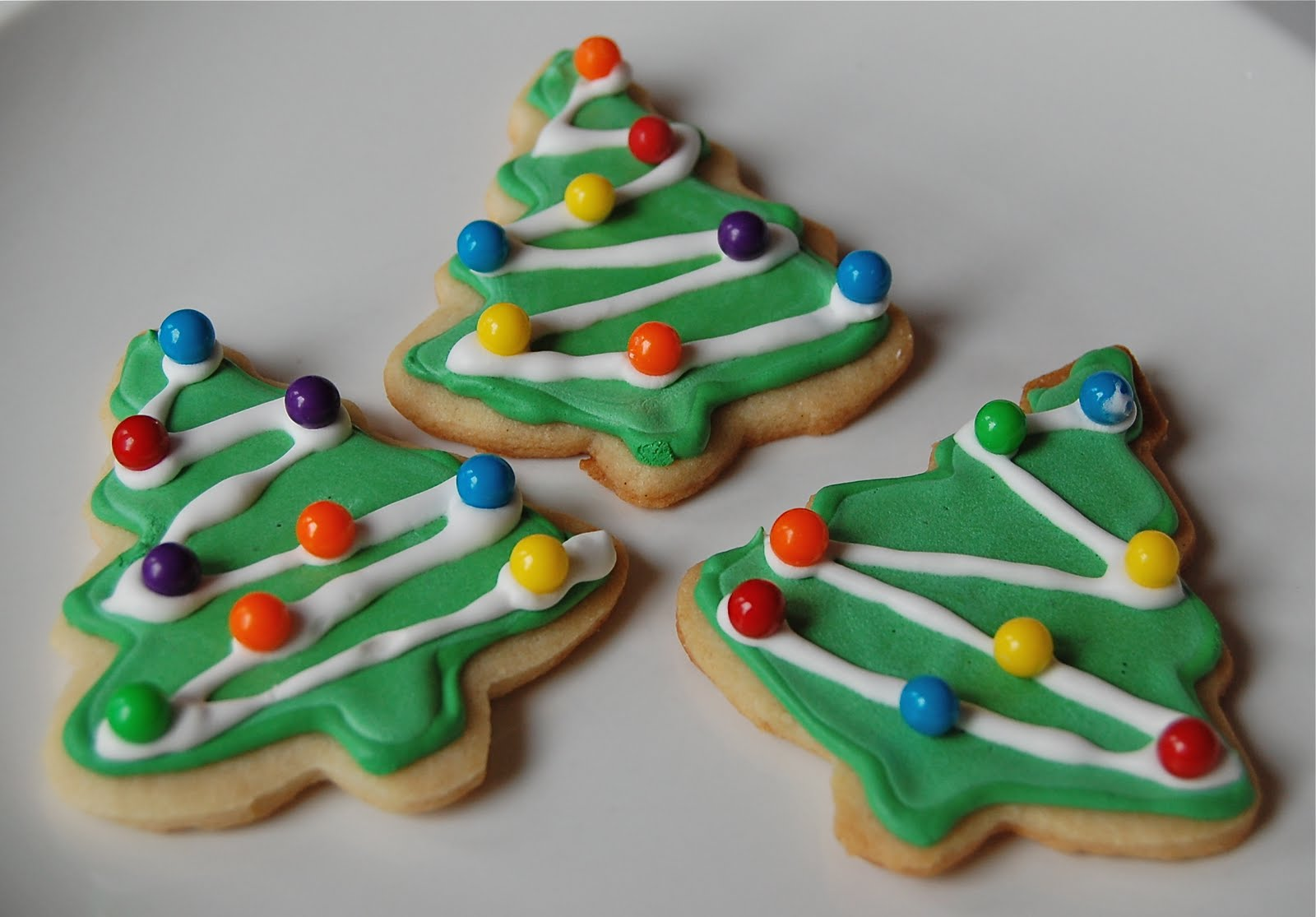 christmas tree sugar cookies - Decorated Christmas Sugar Cookies