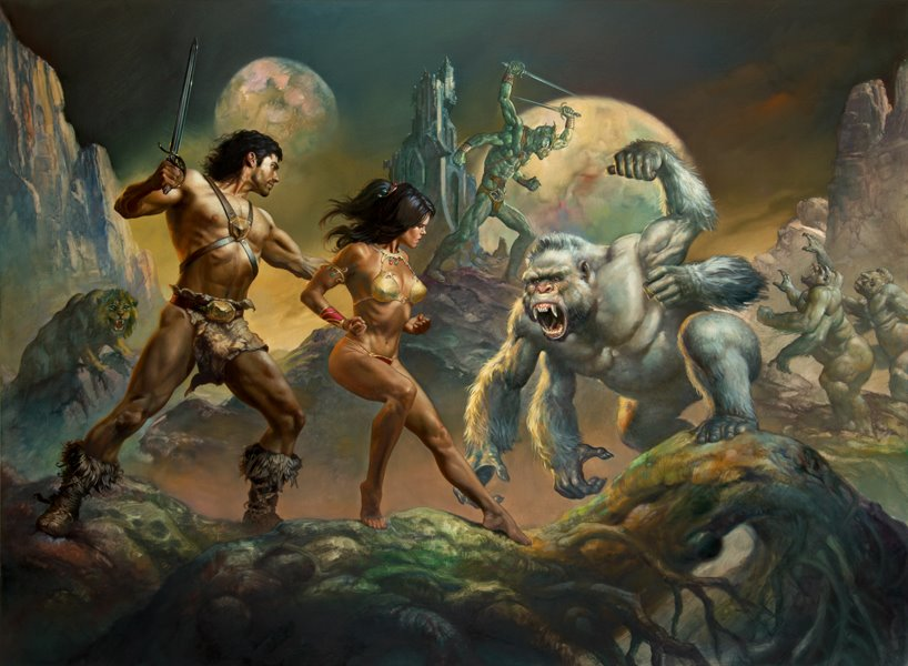 Art Boris Vallejo Julie Bell's sfnal paintings