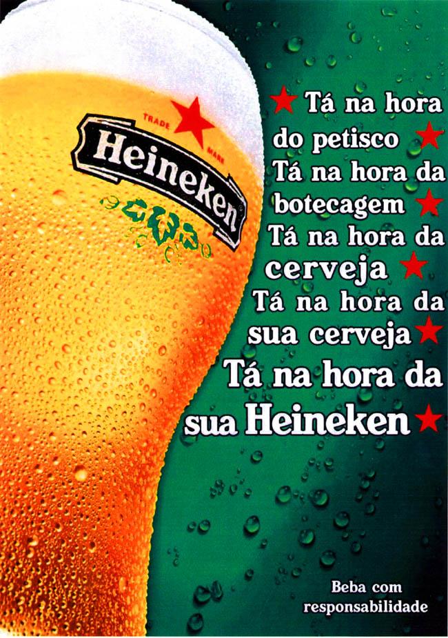 Cartazes Publicitários: Cartaz - Cerveja Heineken.