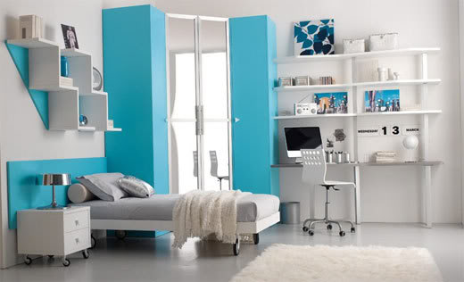 Magnificent Blue Teenage Girl Bedroom Ideas 520 x 316 · 26 kB · jpeg