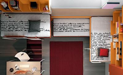 Dormitorio peque o para tres decoraci n y distribucion - Tres camas en habitacion pequena ...