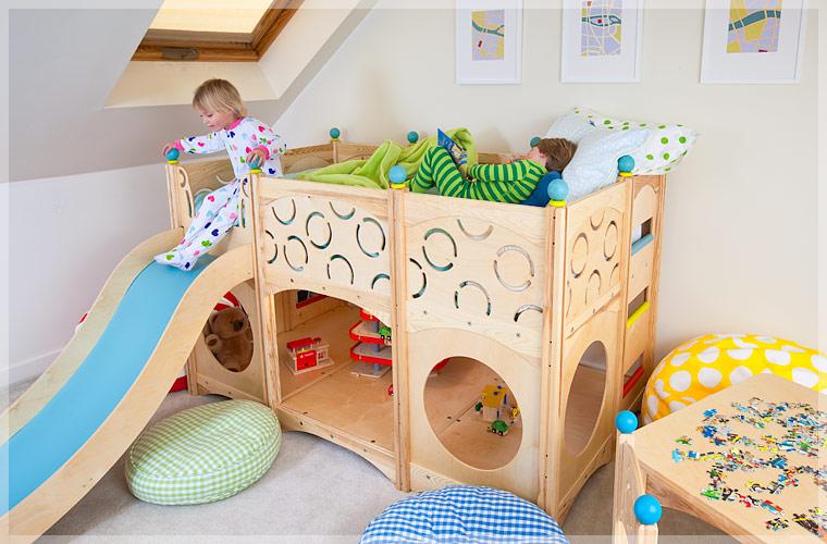 Dormitorios infantiles dormitorio con camas para jugar - Camas dormitorios infantiles ...