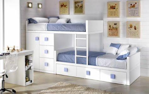 Dormitorios infantiles recamaras para bebes y ni os for Ideas muebles para poco espacio