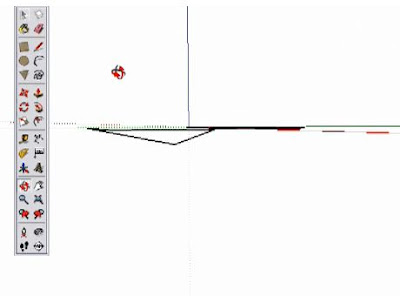 SketchUp Orbit tool to show point not coplanar