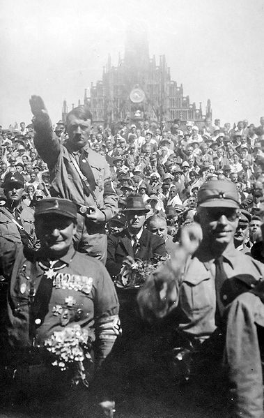 Hitler and Goring at a Nazi