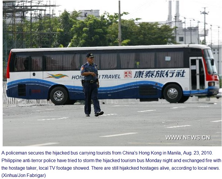 the rizal park hostage crisis in In august 2010 a cashiered philippine police officer, rolando mendoza, hijacked a tour bus of hong kong holiday makers at rizal park in manila, to demand reinstatement.