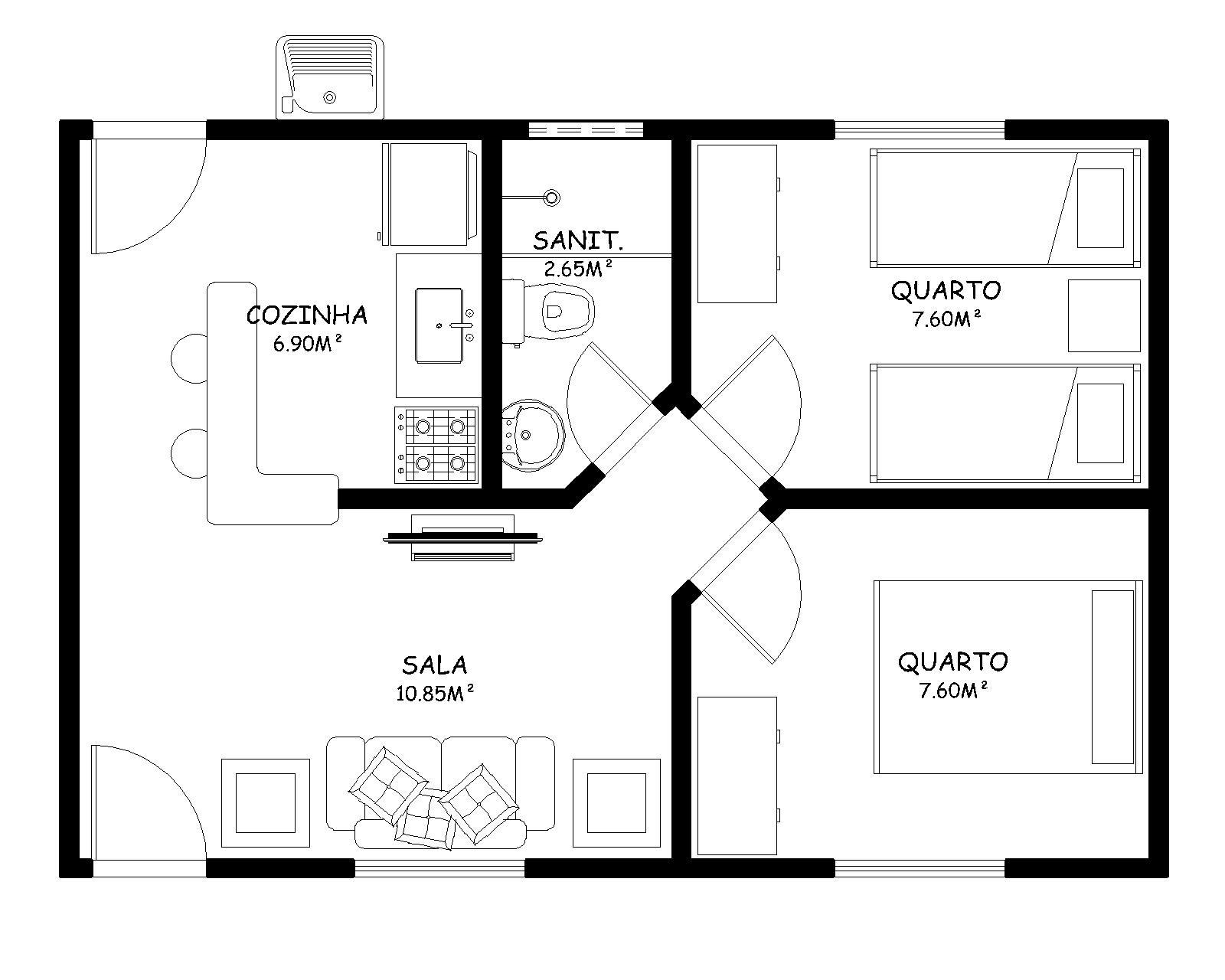 PROJETOS PRONTOS: CASA COM 40 m² TERRENO 12mx10m R$ 250 00 #666666 1600 1280