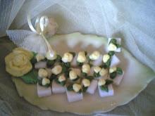 Sarı Güllü Mevlüt Şekerleri(Yellow Rose Cube Sugar)
