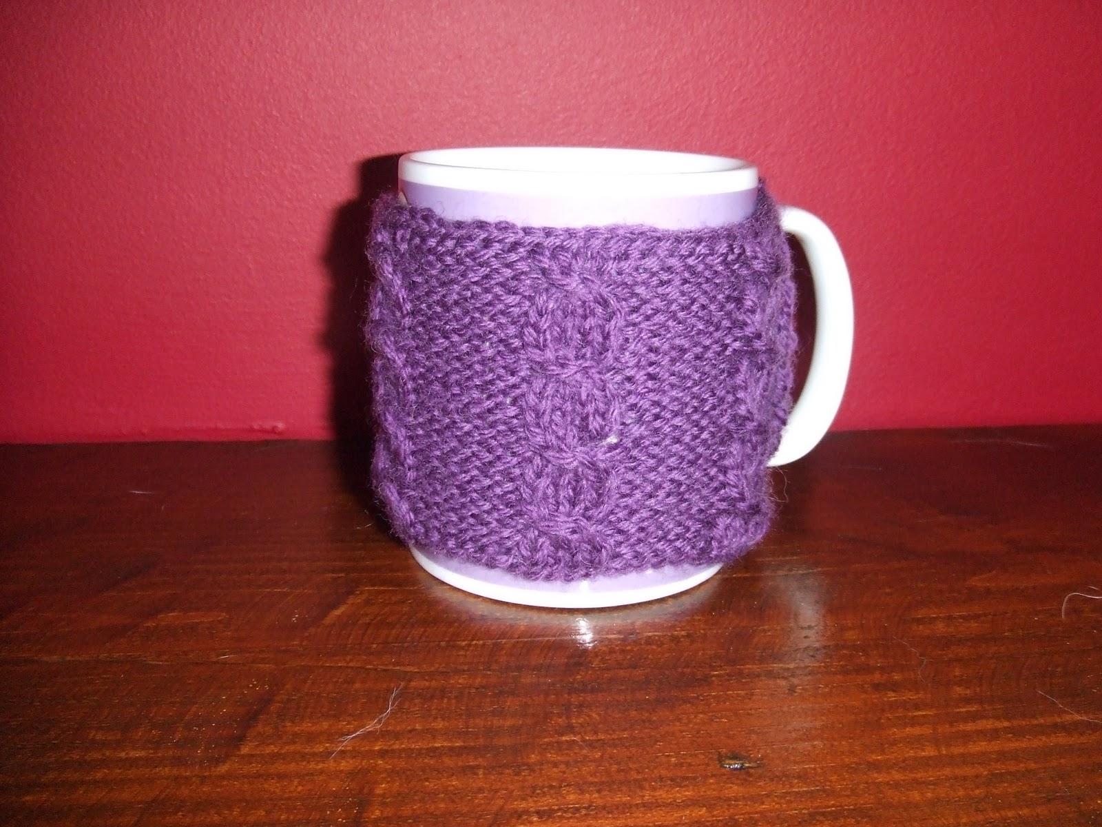 Crafting With Mel: Cable Knitted Mug Hug & Owl