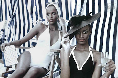 Sedene Blake and Ayan Elmi by Greg Lotus for Beauty Vogue Italy June 2010
