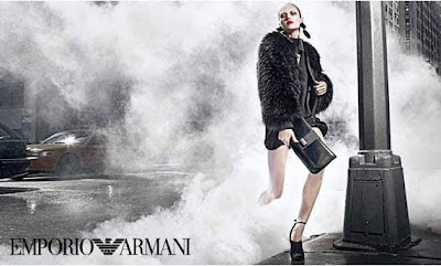 Karmen Pedaru and Marlon Teixeira by Mario Sorrenti for Emporio Armani Campaign AW 2010/11