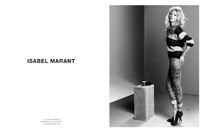 Kate Moss by Inez Van Lamsveerde and Vinoodh Matadin for Isabel Marant AD Campaign FW 2010